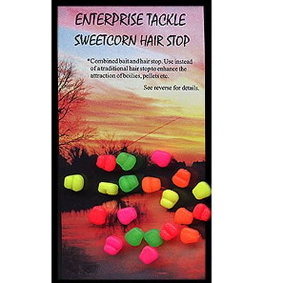 Enterprise Tackle (ARTIFICIAL / IMITATION BAITS:)  Sweetcorn Hair Stop ( FLURO MIXED COLOURS ) buoyant