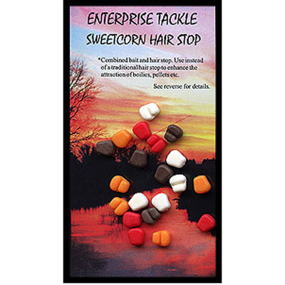Enterprise Tackle (ARTIFICIAL / IMITATION BAITS:)  Sweetcorn Hair Stop ( MIXED COLOURS ) buoyant