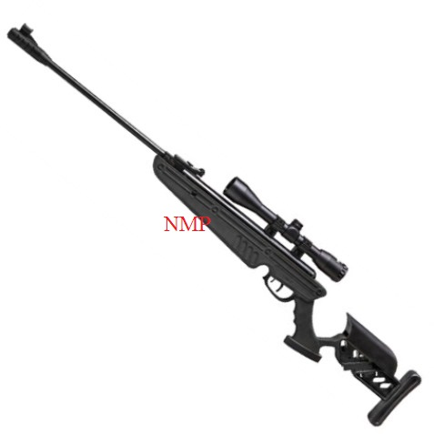 SWISS ARMS TG1 TACTICAL STOCK breack action AIR RIFLE BLACK (5.5MM) .22 with 4 x 40 scope