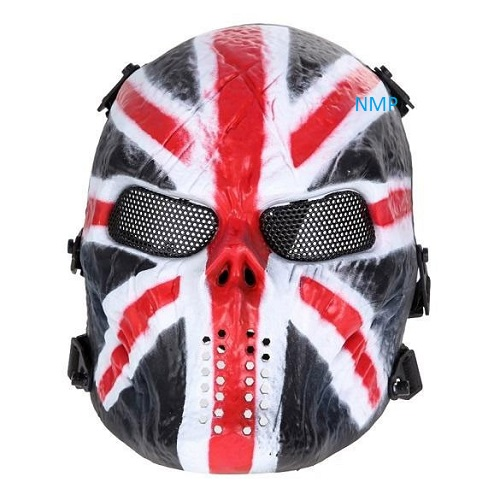 Airsoft BB Gun Face Mask Big Foot Tactical Skull with Mesh Eyes (British Knight)