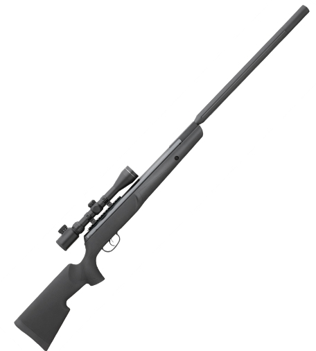 Remington ThunderJet Gas Ram Air Rifle .177 Calibre Black Synthetic Stock Bull barrel with 3 - 9 x 40E scope & mount