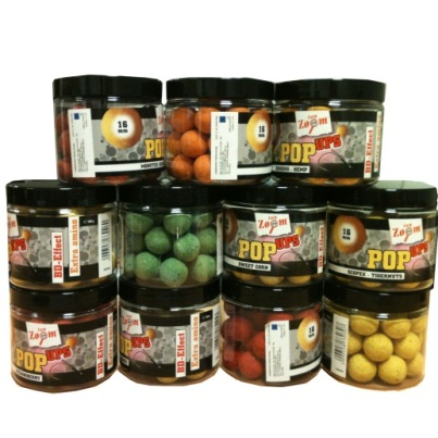 CARP ZOOM HIGH FLAVOUR 16MM POP UP BOILIES 100g Pot ( GLM-POPUP Flavour ) Green Lipped Mussel