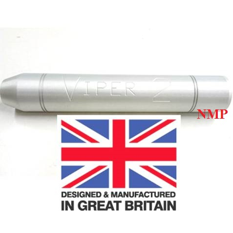 1/2 inch UNF Thread ( VIPER 2 Silver ) Airgun Silencer Tapered (unproofed) Made in UK