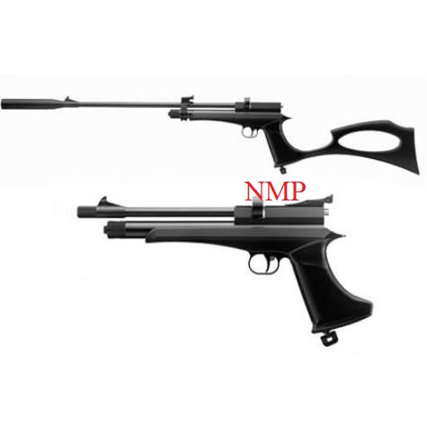 SMK Victory CP2 multi shot Air Pistol or Air Rifle 12g co2 Powered .22 calibre pellet in Black set