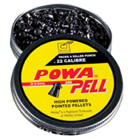 Webley Powapell CALIBRE .22 Pointed (500 - 14.3g) Air Gun Pellets