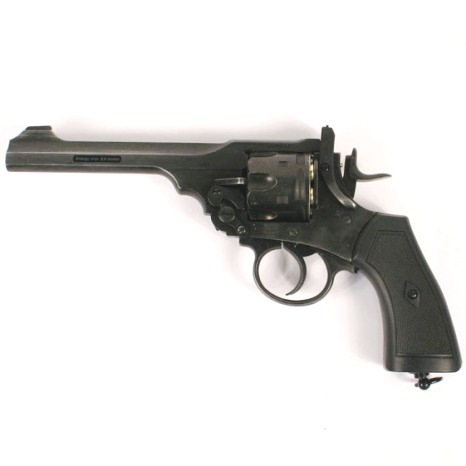 Webley MKVI Service Revolver 12g co2 Air Pistol .177 ( 4.5mm steel BB .455) Aged Battlefield Finish