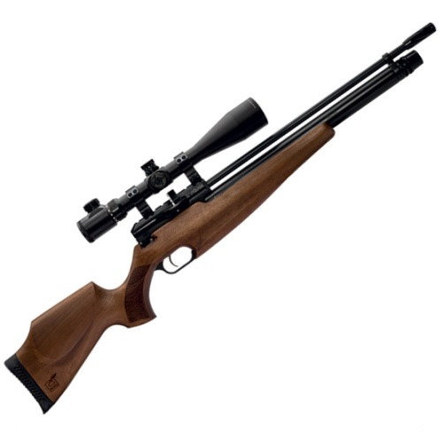 Webley Raider 12 Classic PCP Air Rifle, Ambi-Dextrous Walnut Wooden Stock 14 Shot .177 Calibre
