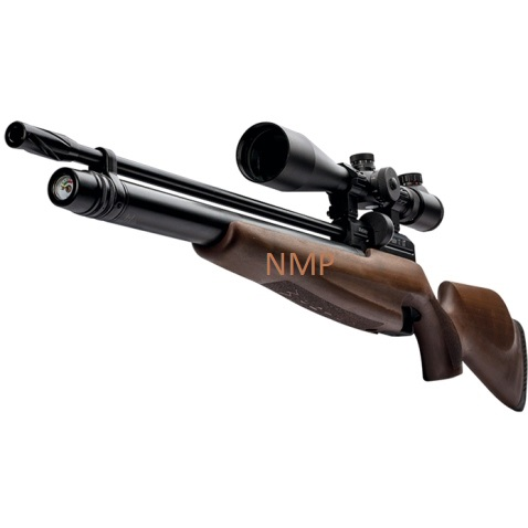 Webley Raider 12 Sporter PCP Pre Charged Air Rifle, Ambi-Dextrous Wooden Stock 11.5 ft /lbs .22