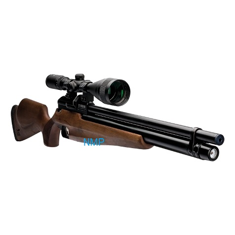Webley Raider 12 Quantum PCP Pre Charged Air Rifle, Ambi-Dextrous Wooden Stock 11.5 ft /lbs .22 Fitted with Quantum Silencer