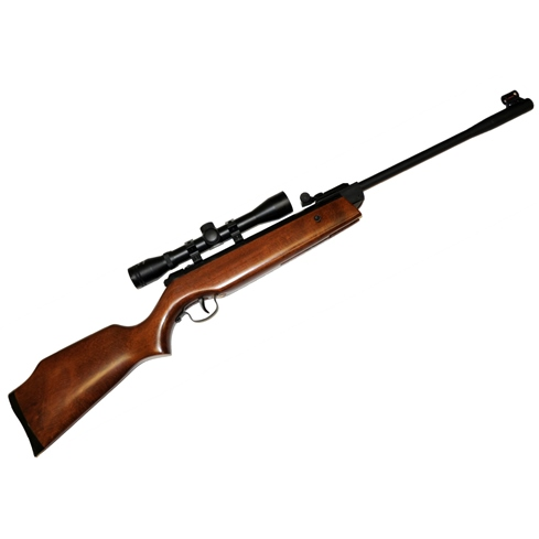 Webley Cub Junior Spring Air Rifle Wood Stock .177 calibre fitted with WEBLEY 4x32 Scope ideal for young starters, clubs and scouts