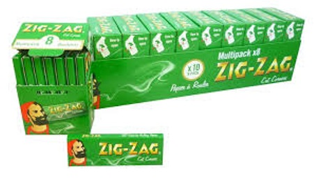 ZIG-ZAG GREEN REGULAR PAPERS (1 Box of 8 BOOKLETS of 50 Papers)