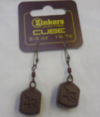 Zinkers Cube Carp Weight  2/3oz - 18.7g