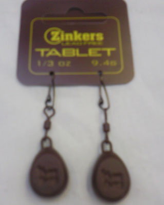 Zinkers Tablet Carp Weight  1/3oz - 9.4g