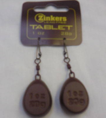 Zinkers Tablet Carp Weight 1oz - 28g