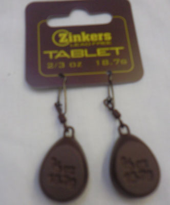 Zinkers Tablet Carp Weight  2/3oz - 18.7g
