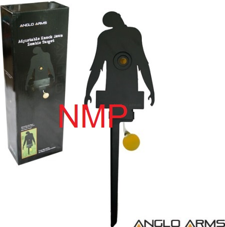 Anglo Arms Zombie Training Knock and Reset Target for Shooting with 177 - 22 Air Rifles & Pellet Guns