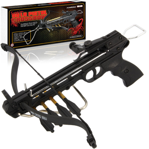 80lb RED SCORPION PISTOL CROSSBOW with Bolt holder MK-80A3 (Aluminium)