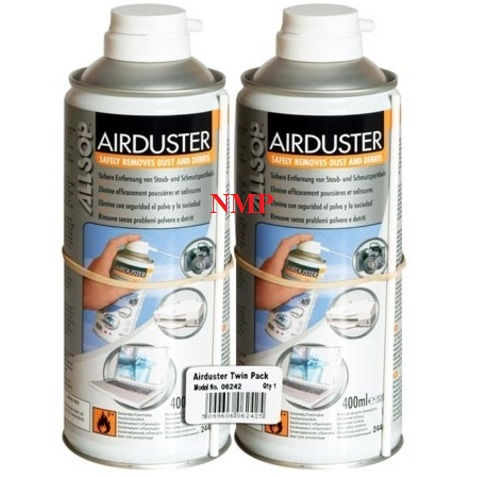 ALLSOP Sprayduster (sensitive electronic equipment cleaner) Disposable Can with Extension tube 400ml twin pack