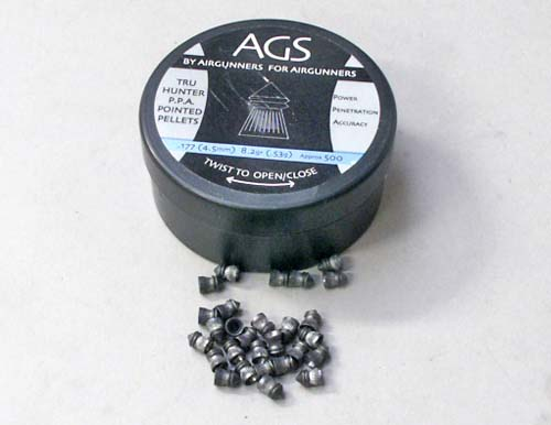 AGS Tru Hunter Air Gun Pellets .177 Pointed 8.2gr
