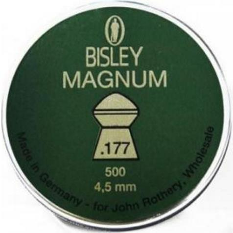 Bisley Magnum Pellets 4.50mm .177 Calibre 10.65 grain Tin of 500 x 10 Tins