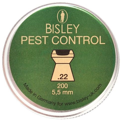 Bisley Pest Control Pellets .22 Calibre 18.21 grain Tin of 200 x 10 Tins