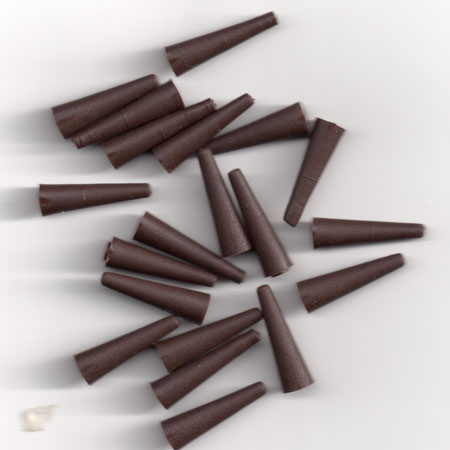 RUBBER TAIL CONES FITS CARP SAFETY LEAD CLIP ( MUD BROWN ) Pack of 20 (made in uk)