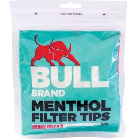 BULL BRAND MENTHOL FILTERS (Pack Size: 250 tips)