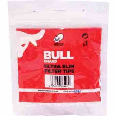 BULL BRAND ULTRA SLIMLINE FILTERS RED JUMBO BAG (Pack Size: 450 tips)