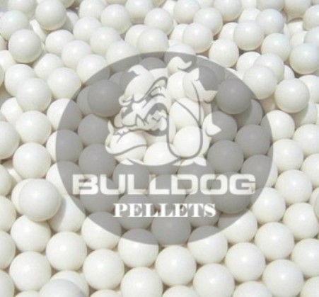 BULK 25kg SACK of 0.20g 6mm BB Polished White high grade Bulldog Airsoft Pellets Nylon 0.20g 25kg SACK