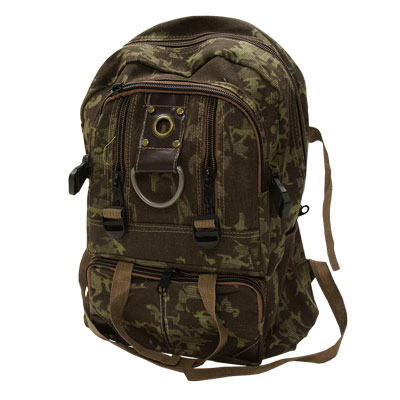 Camo Army style Basic cheap Rucksack / Back Pack with a number of zip storage compartments