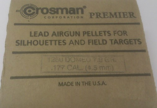 Crosman Premier Domed CALIBRE .177 Air Gun Pellets (1250 box - 7.9g)