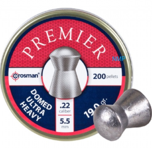 Crosman Premier Domed Ultra Heavy Airgun .22 calibre 5.5mm 19.00 Grains Pellets tin of 200