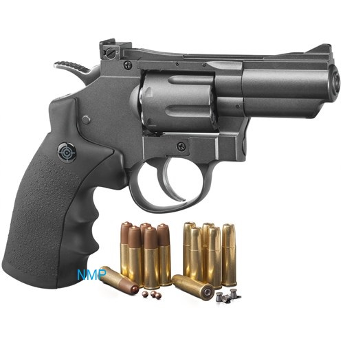 "Crosman SNR357 ""SNR"" = Snub Nose Revolver CO2 Powered, Dual Ammo Full Metal .177 pellet, 4.5mm BB"