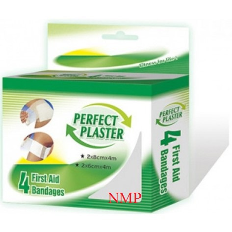 4 FIRST AID BANDAGES (PERFECT PLASTER)