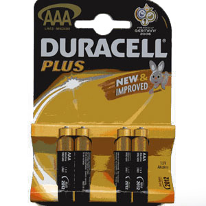 DURACELL AAA 1 Pack of 4 batteries ( MN2400 )