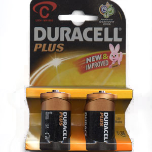 DURACELL C BATTERIES 1 Pack of 2 ( MN1400 )