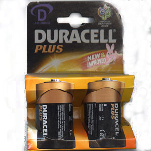 DURACELL D BATTERIES 1 Pack of 2 ( MN1300 )