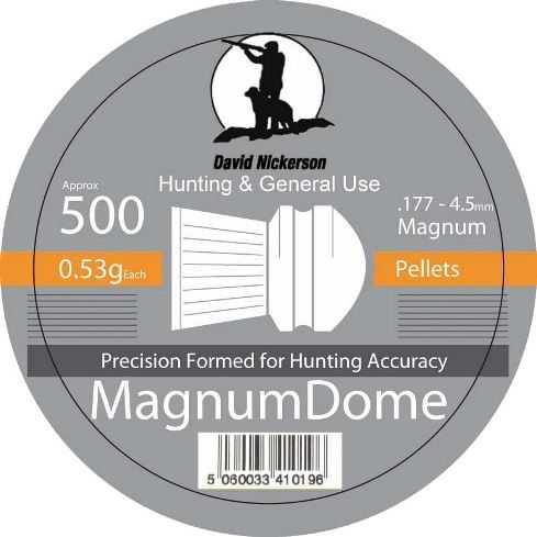 David Nickerson Magnum Dome Pellets .177 Calibre 8.18 grain Tubs of 500