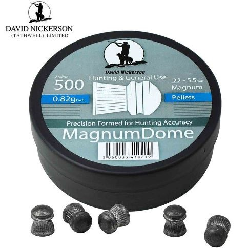 David Nickerson Magnum Dome Pellets .22 Calibre 12.65 grain Tubs of 500 x 10 Tins