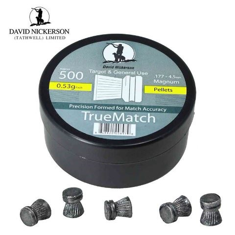 David Nickerson True Match Pellets .177 Calibre 8.18 grain Tubs of 500