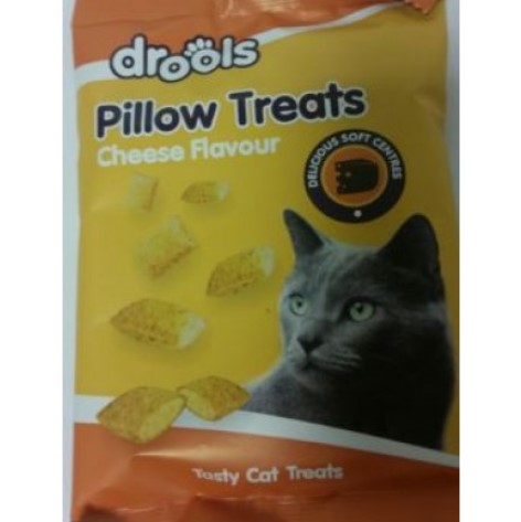 DROOLS TASTY PILLOW TREATS FOR PET CATS - CHEESE FLAVOUR -100G
