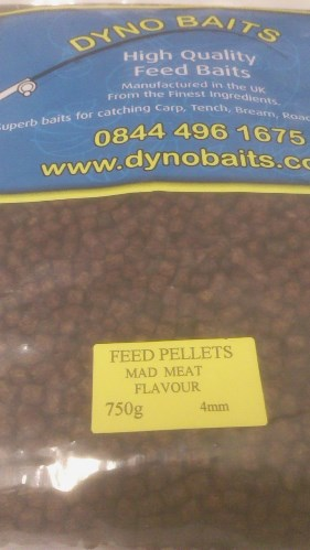 MAD MEAT FLAVOUR FEEDER PELLETS ( 4mm ) ( DYNO BAITS ) 750g bag