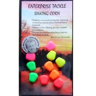 Enterprise Tackle (ARTIFICIAL / IMITATION BAITS:)  Sweetcorn SINKING ( MIXED COLOURS )