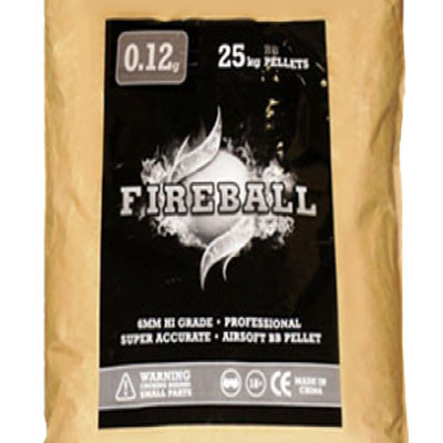 BULK 25kg SACK of 0.12g 6mm BB Polished White high grade FireBall Performance Airsoft Pellets Nylon 0.12g 25kg SACK