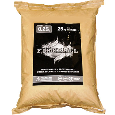BULK 25kg SACK of 6mm 0.25g BB Polished White high grade FireBall Performance Airsoft Pellets Nylon 0.25g 25kg SACK