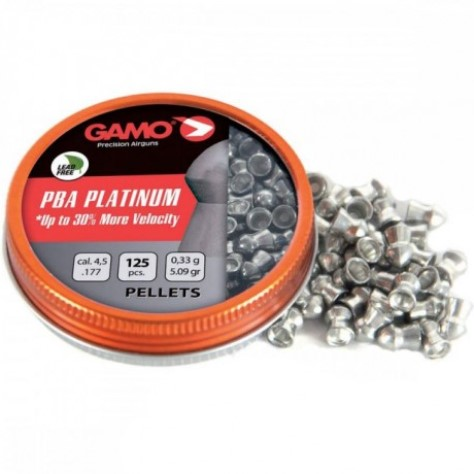 Gamo PBA Platinum .177 Dome Head Pellets (125 per tin)