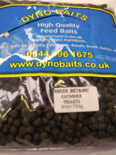 Green Betaine 6mm Expander Pellets ( DYNO BAITS ) 750g