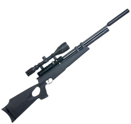 Hatsan AT44 10 Pre charged PCP Airgun and Kit 3 12 x 50 scope Sound Moderator .22 calibre air gun pellet