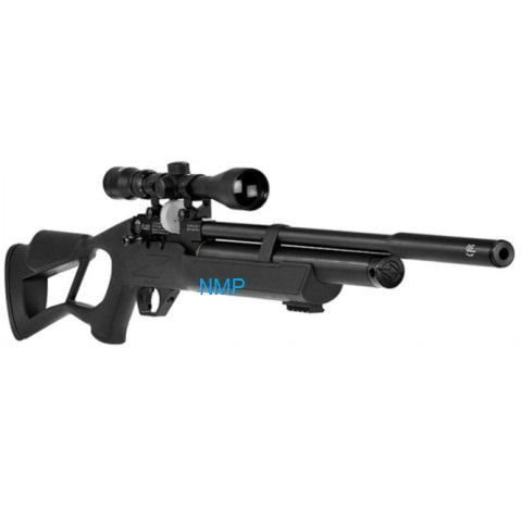 Hatsan Flash QE Multi Shot PCP Pre Charged Air Rifle 12 shot magazine in .22 (5.5mm) caliber with full Kit (Hatsan pump, Optima 3-9x40 scope and gun bag)