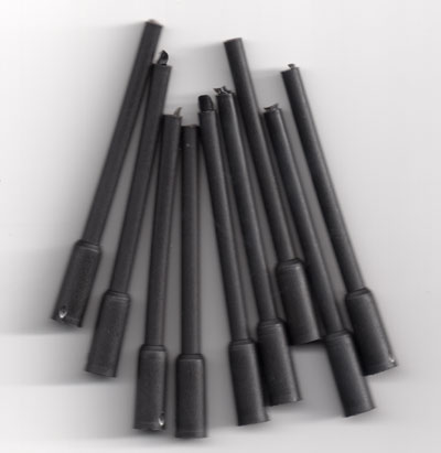 in-line pipe pack of 10 Black (made in uk)